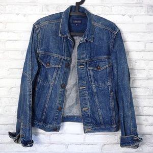 Calvin Klein Vintage Denim Trucker Jacket Medium